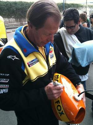 Roger DeCoster signs a blast from the past.