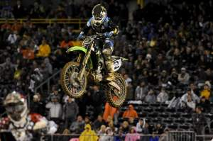 Despite going down in the first turn with Dungey, Ryan Villopoto was able to claw his way all the way back up to fourth.