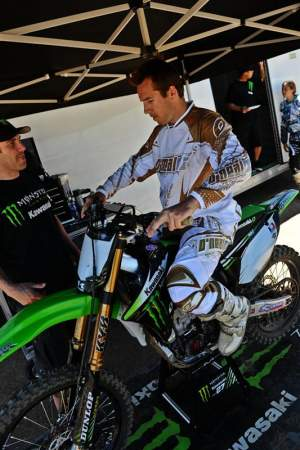 Grant Langston tested with Monster Energy Kawasaki this week.