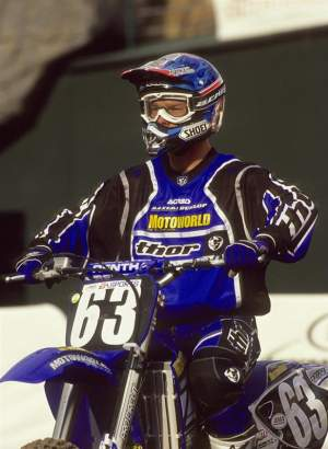 Greg Schnell in 2000, racing for Motoworld Yamaha.