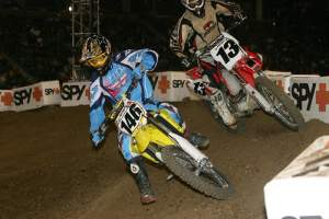 Schnell passing Heath Voss at the McGrath Invitational a few years ago.