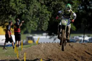 Wilson passed Eli Tomac early in the race and began to pull away.