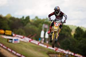 Ryan Dungey fell and broke his front-brake rotor in moto one, scoring a DNF, but returned for moto two and grabbed yet another win. He was sixth overall.