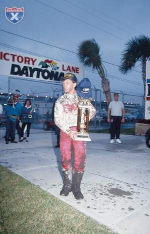 Ryan with his Daytona trophy.