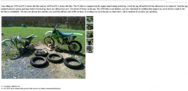 Cool as Hell: Junk Bikes for Sale - Racer X Online