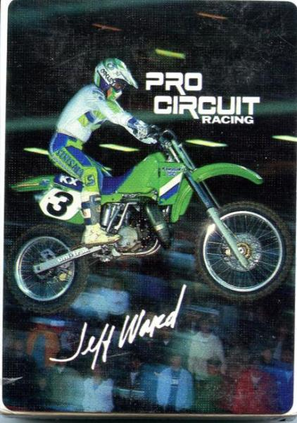 the list  motocross trading cards