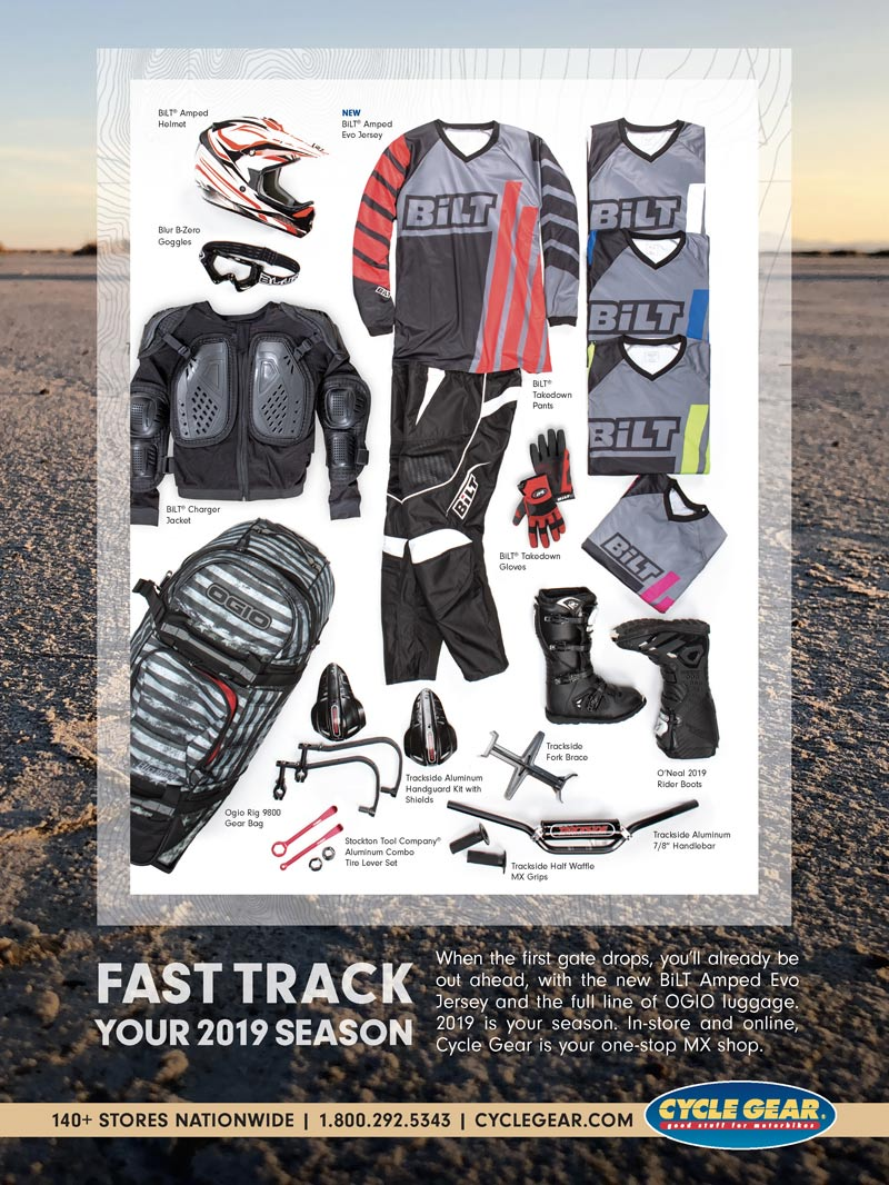 Racer X May 2019 - Cycle Gear Advertisement