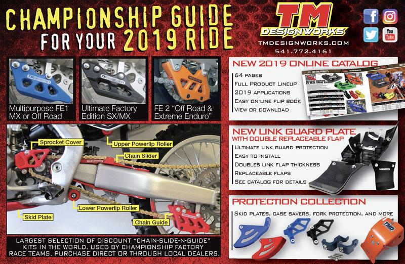 Racer X May 2019 - TM Designworks Advertisement