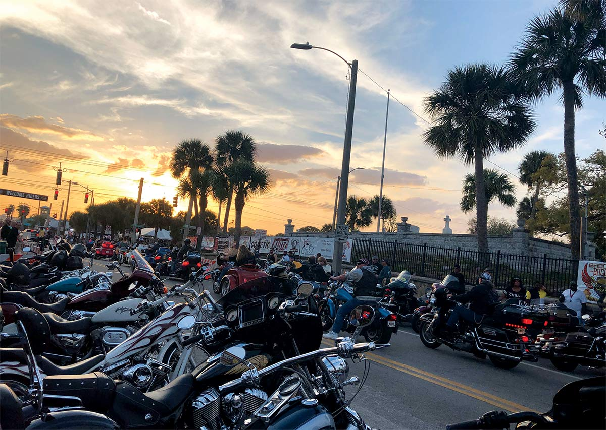 Along the nearly 850-mile drive from snowy West Virginia to sunny Daytona Beach, we dealt with everything from blowouts to bike traffic in one epic trip to Daytona International Speedway, where we would spend a full week hunkered down on the infield—with side trips to Main Street, the GNCC, the Iron Horse Saloon, and more.