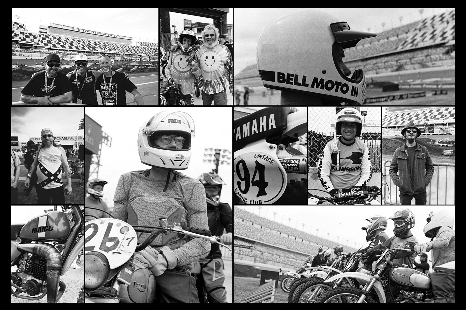 There was a vintage race added to the Ricky Carmichael Daytona Amateur Supercross