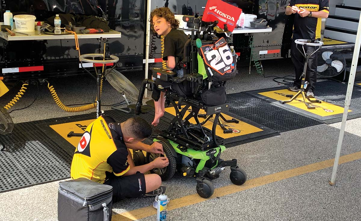 """Preston is a young motocross fan who describes himself on his Instagram account """"professional wheelchair driver."""""""