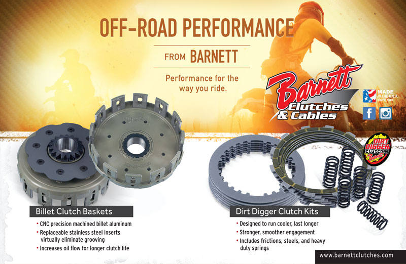 Racer X June 2019 - Barnett Clutches & Cable Advertisement