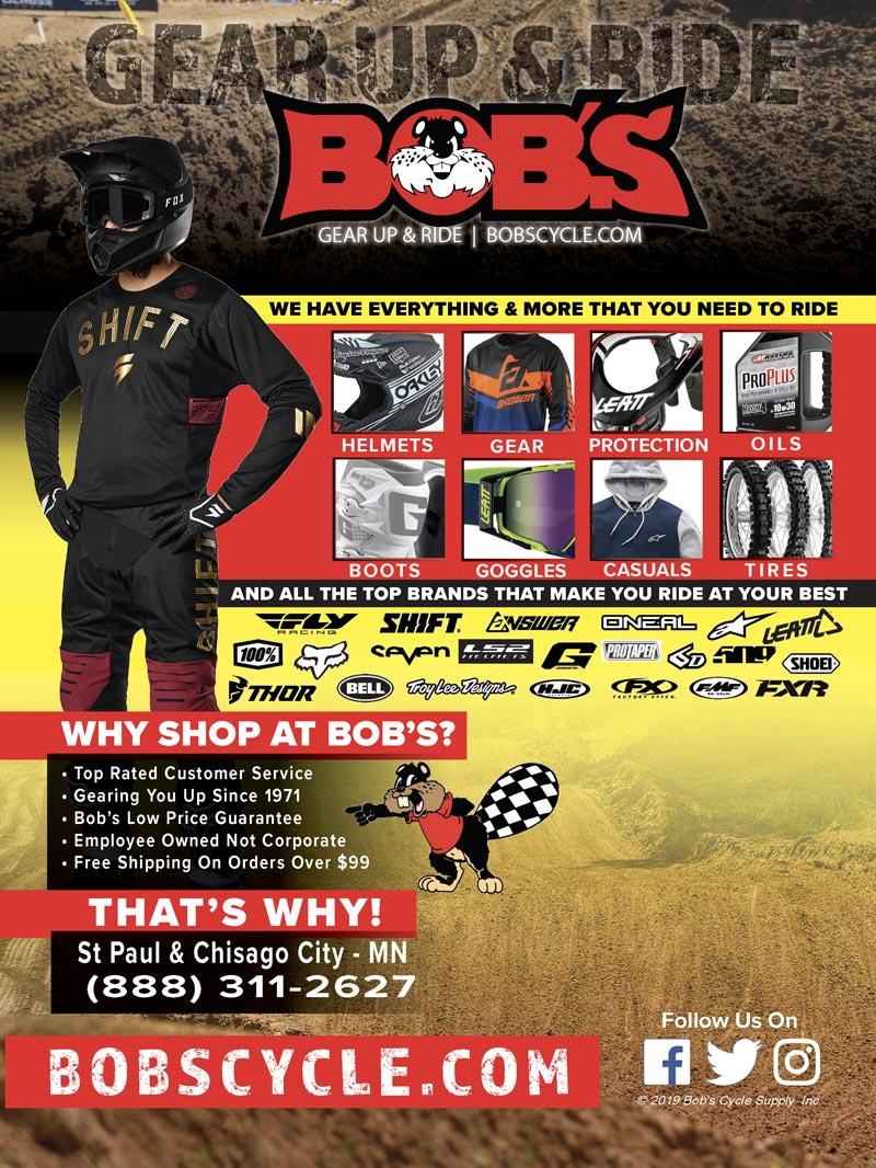 Racer X June 2019 - Bob's Cycle Advertisement