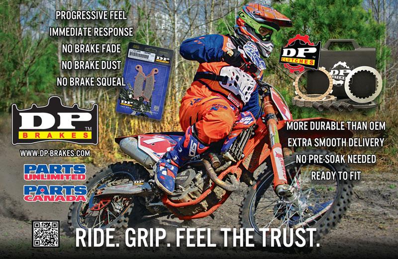 Racer X June 2019 - DP Brakes Advertisement