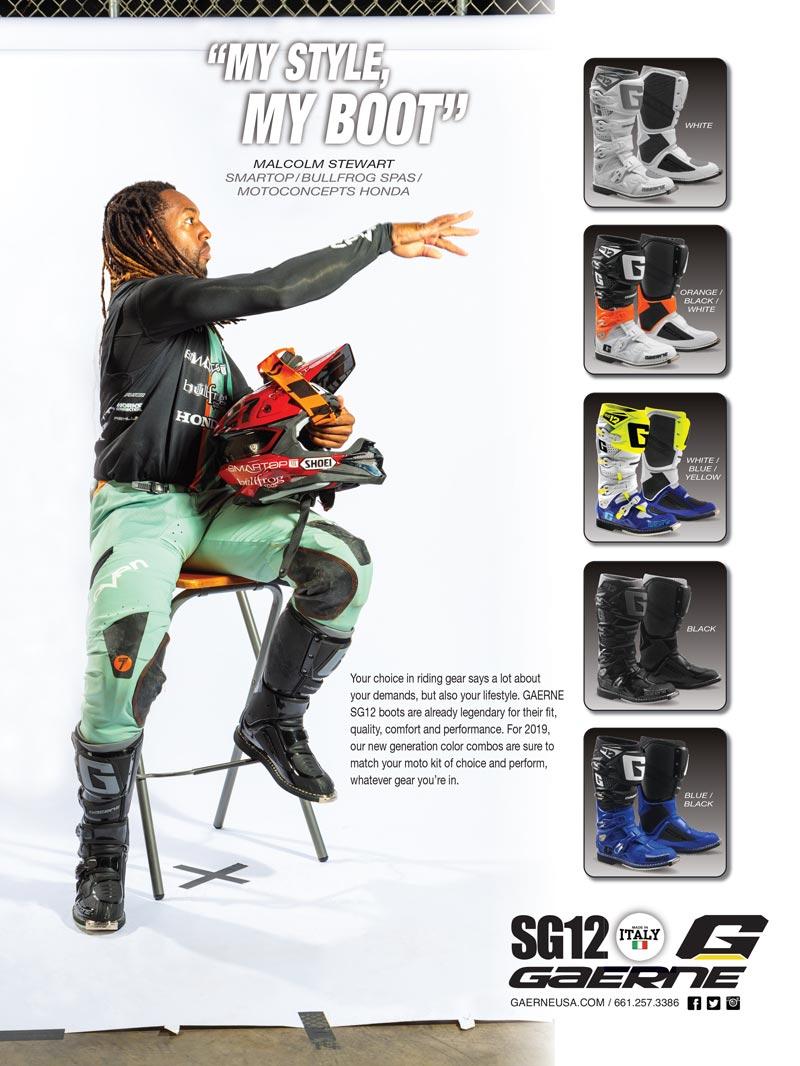 Racer X June 2019 - Gaerne Advertisement
