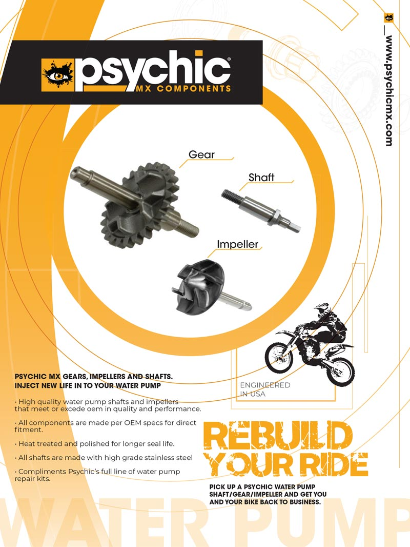 Racer X June 2019 - Psychic MX Components Advertisement