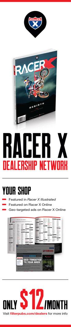 Racer X June 2019 - Racer X Dealership Network Advertisement