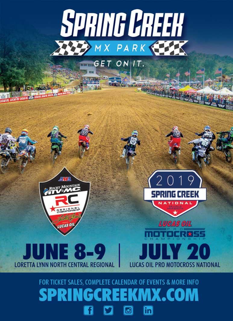 Racer X June 2019 - Spring Creek MX Advertisement