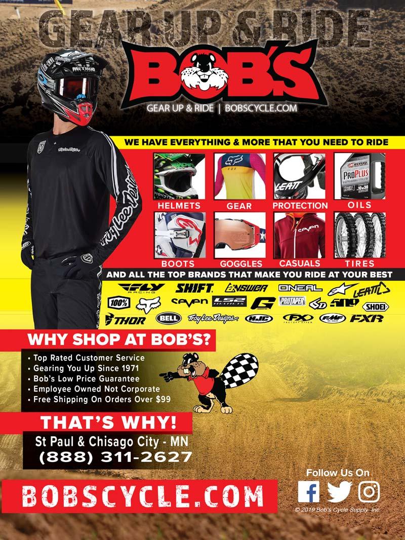 Racer X May 2019 - Bob's Cycle Advertisement