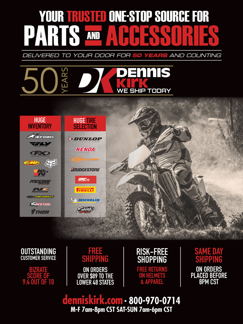 Racer X May 2019 - Dennis Kirk Advertisement