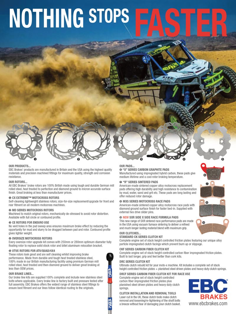 Racer X May 2019 - EBC Brakes Advertisement