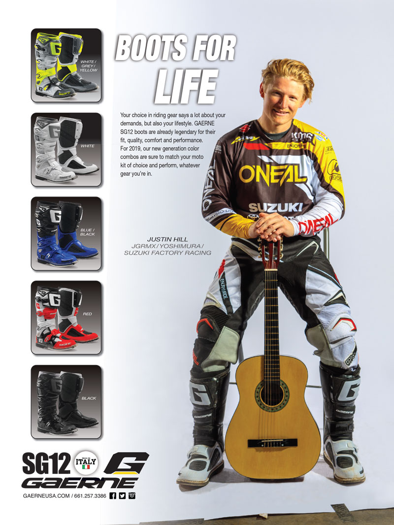 Racer X May 2019 - Gaerne Advertisement