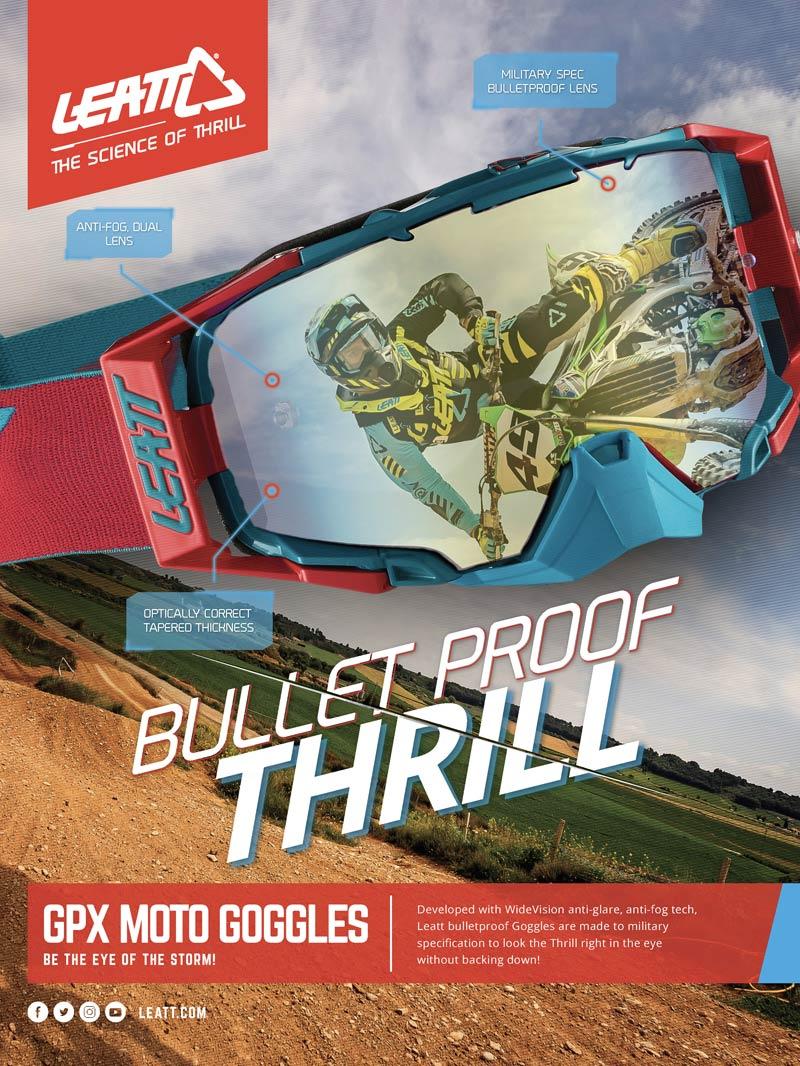 Racer X May 2019 - Leatt Advertisement