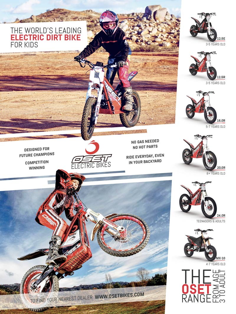 Racer X May 2019 - Oset Electric Bikes Advertisement