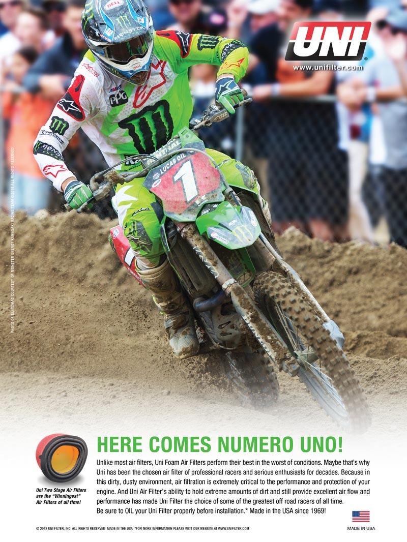 Racer X June 2019 - UNI Filter Advertisement