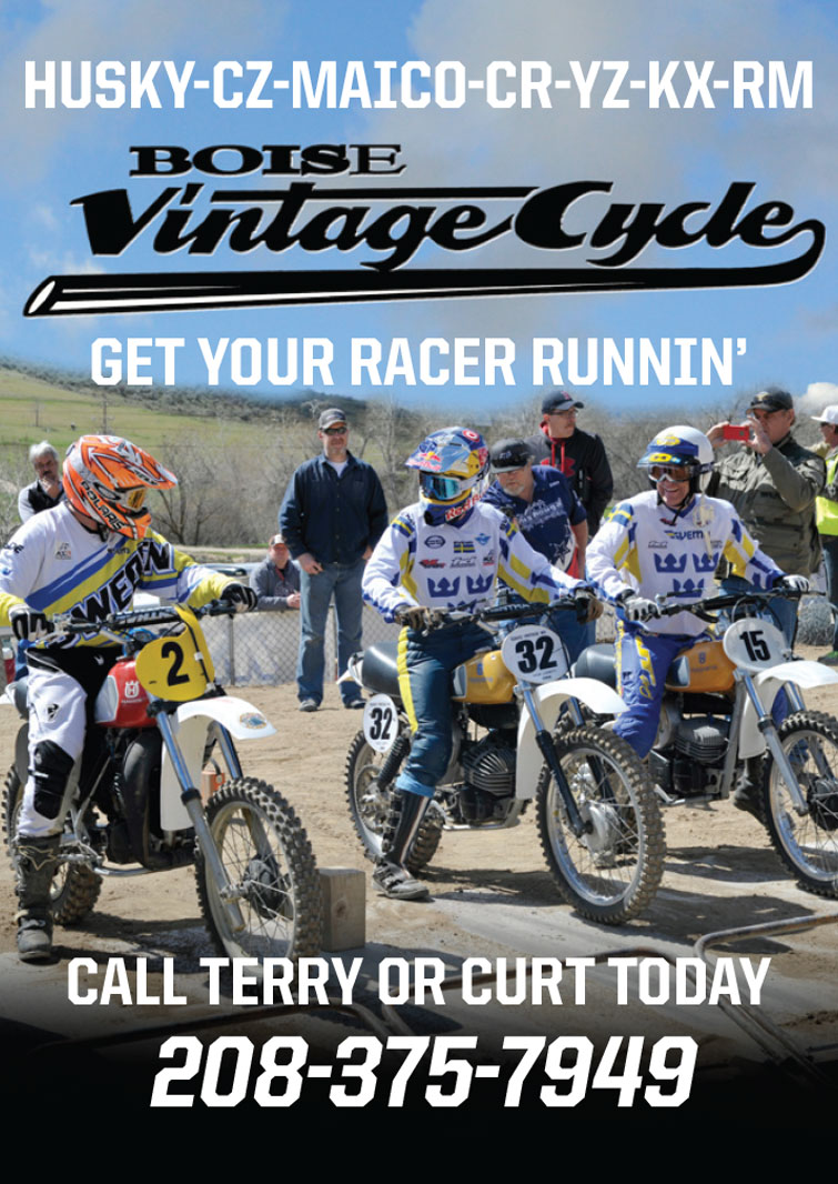 Racer X May 2019 - Boise Vintage Cycle Advertisement