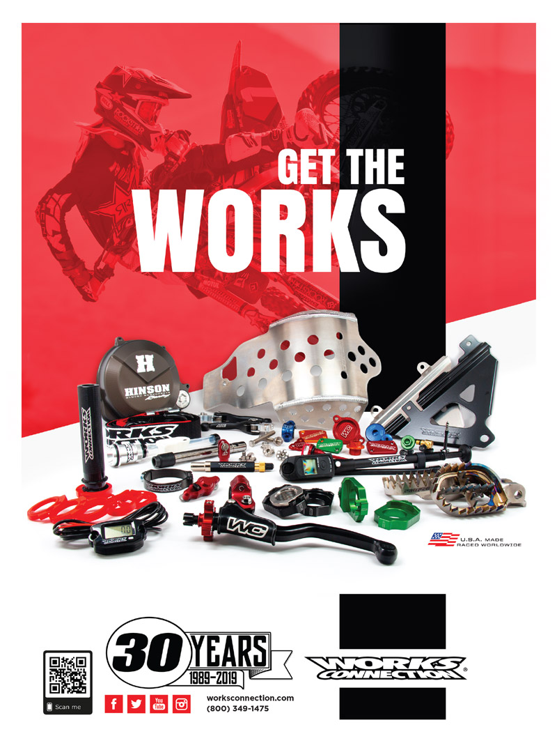 Racer X May 2019 - Works Connection Advertisement