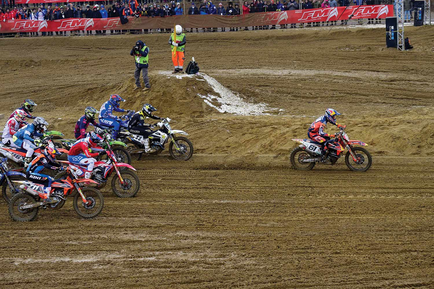 Check out the massive, Mike Alessi-sized holeshot that Jorge Prado pulled to start his 2019 preseason at the Internazionali D'Italia Motocross in Montova, Italy.