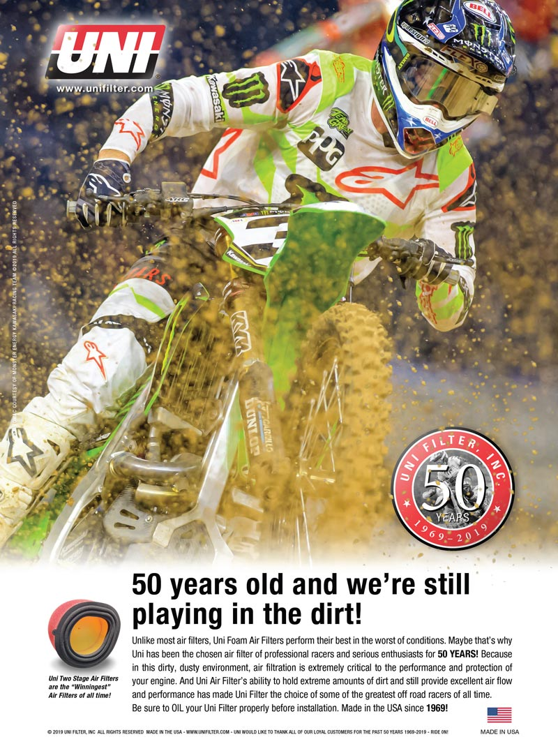 Racer X November 2019 - UNI Filter Advertisement