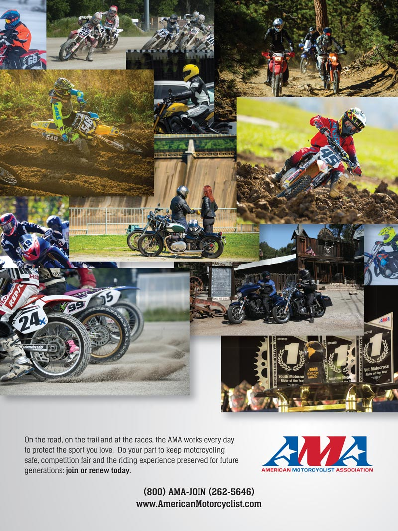 Racer X November 2019 - American Motorcyclist Association Advertisement