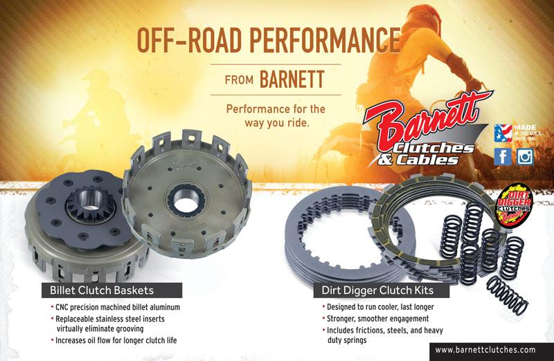 Racer X December 2019 - Barnett Clutches & Cable Advertisement