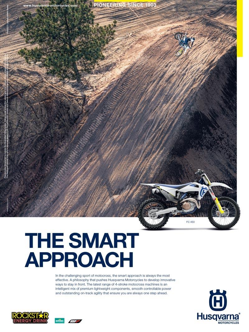 Racer X October - Husqvarna Advertisement