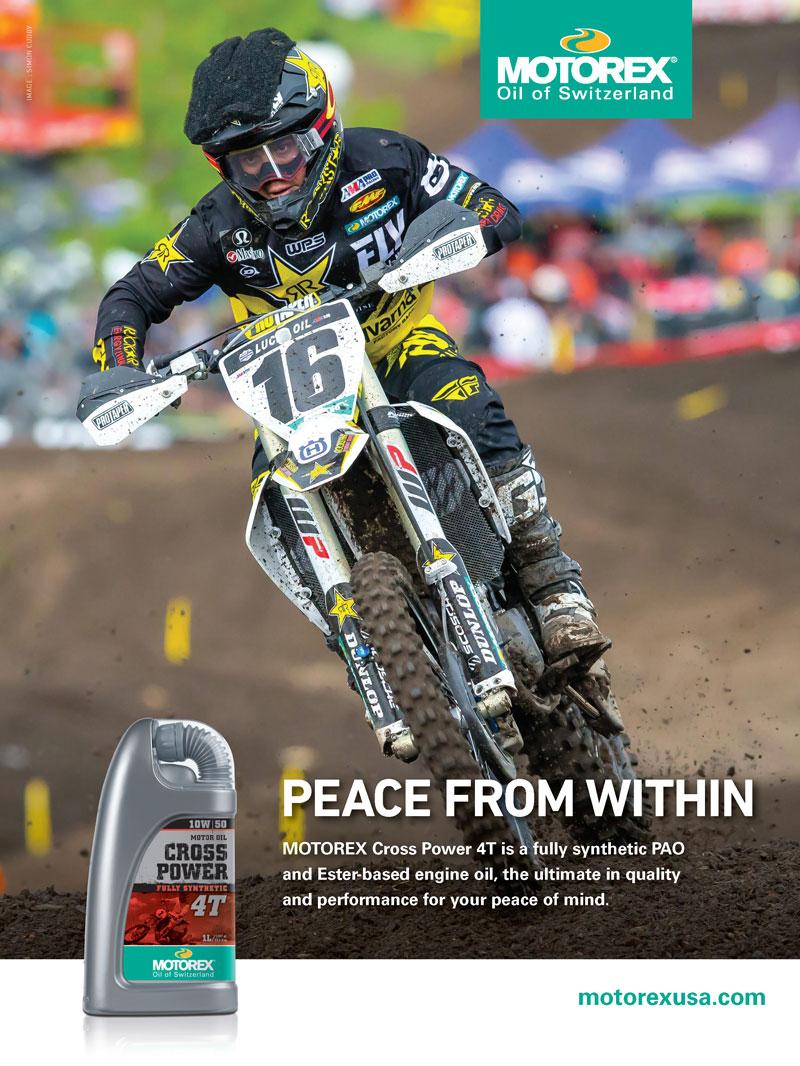 Racer X December 2019 - Motorex Advertisement