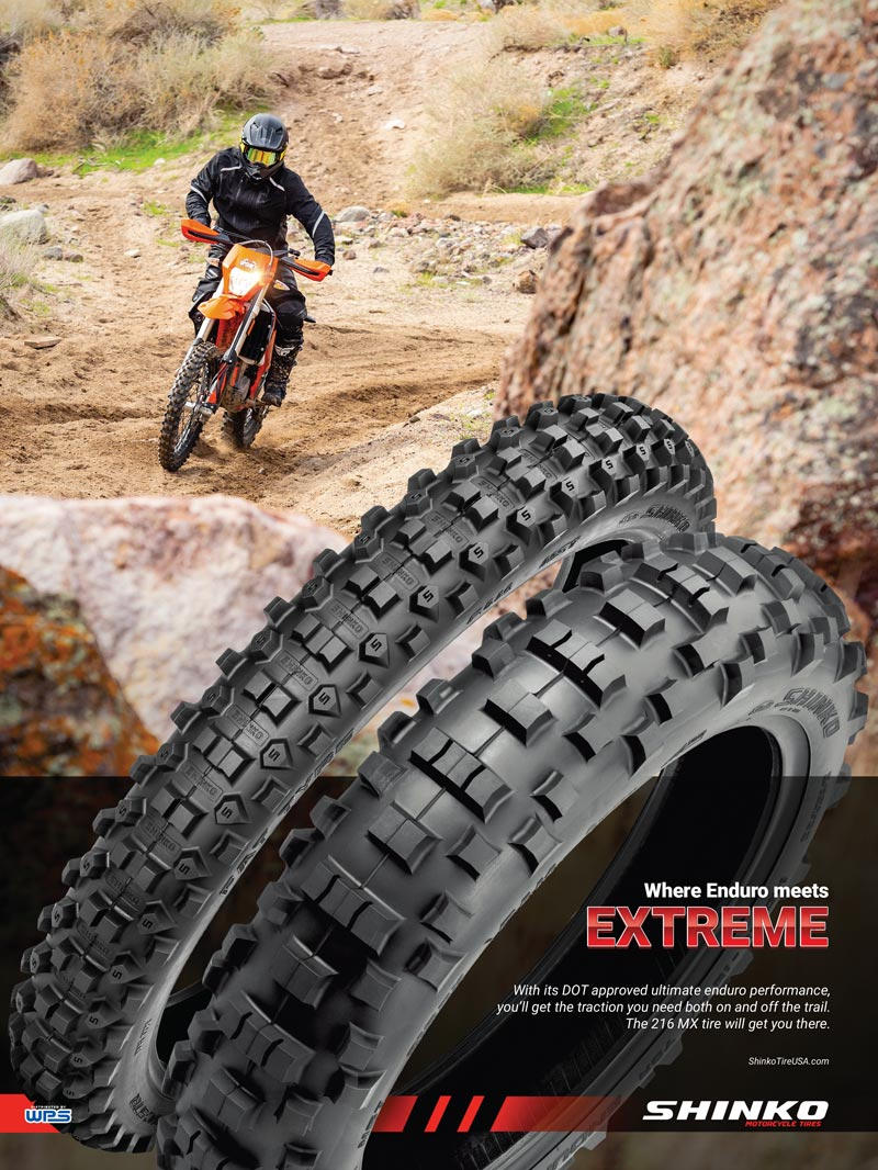 Racer X November 2019 - Shinko Motorcycle Tires Advertisement