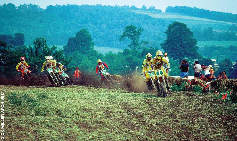 Kent Howerton (1) leads the '80 version