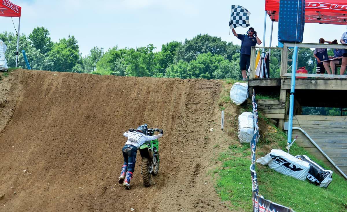 Lorenzo Locurcio putting the finishing touches on a very impressive ride