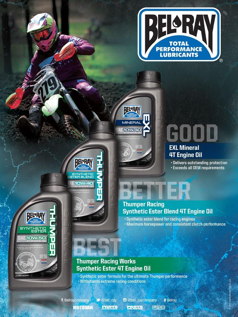 Racer X October - Bel Ray Advertisement