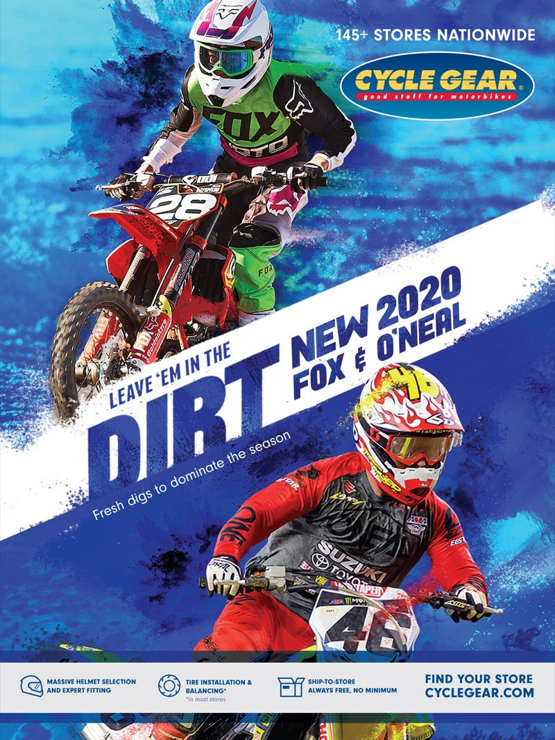 Racer X October 2019 - Cycle Gear Advertisement