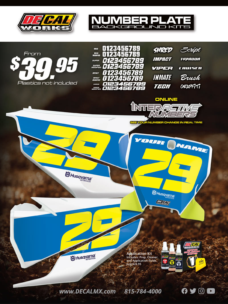 Racer X October 2019 - Decal Works Advertisement