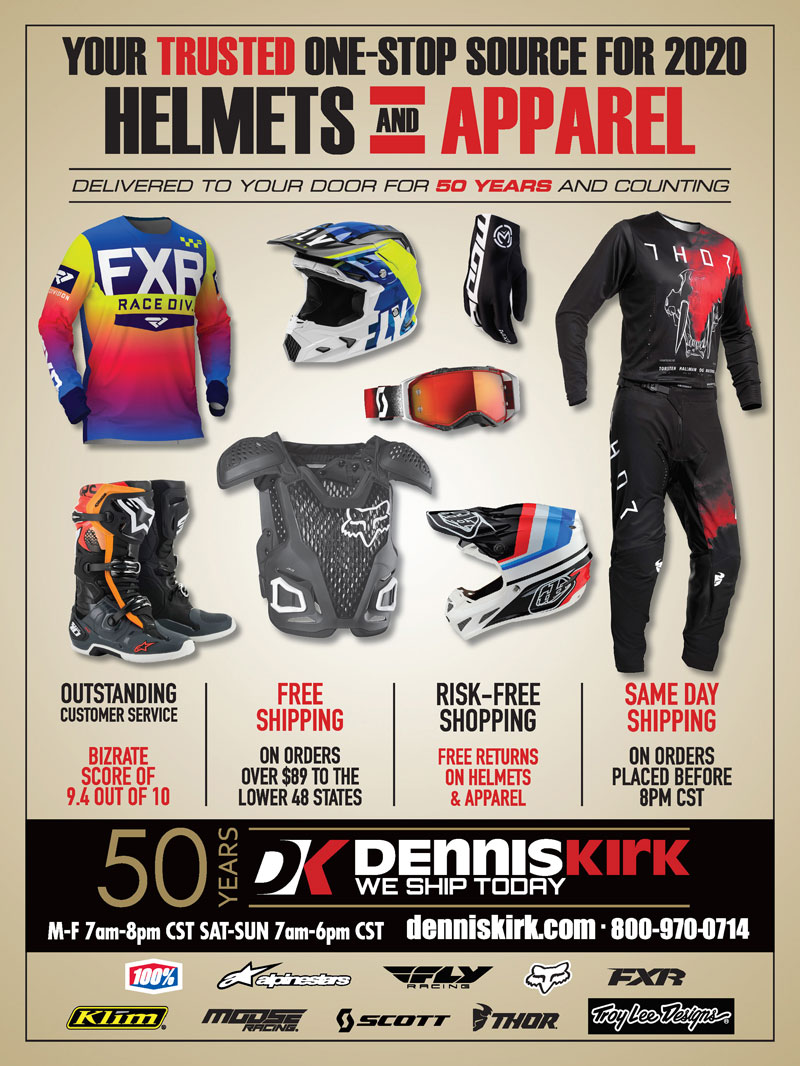 Racer X November 2019 - Dennis Kirk Advertisement