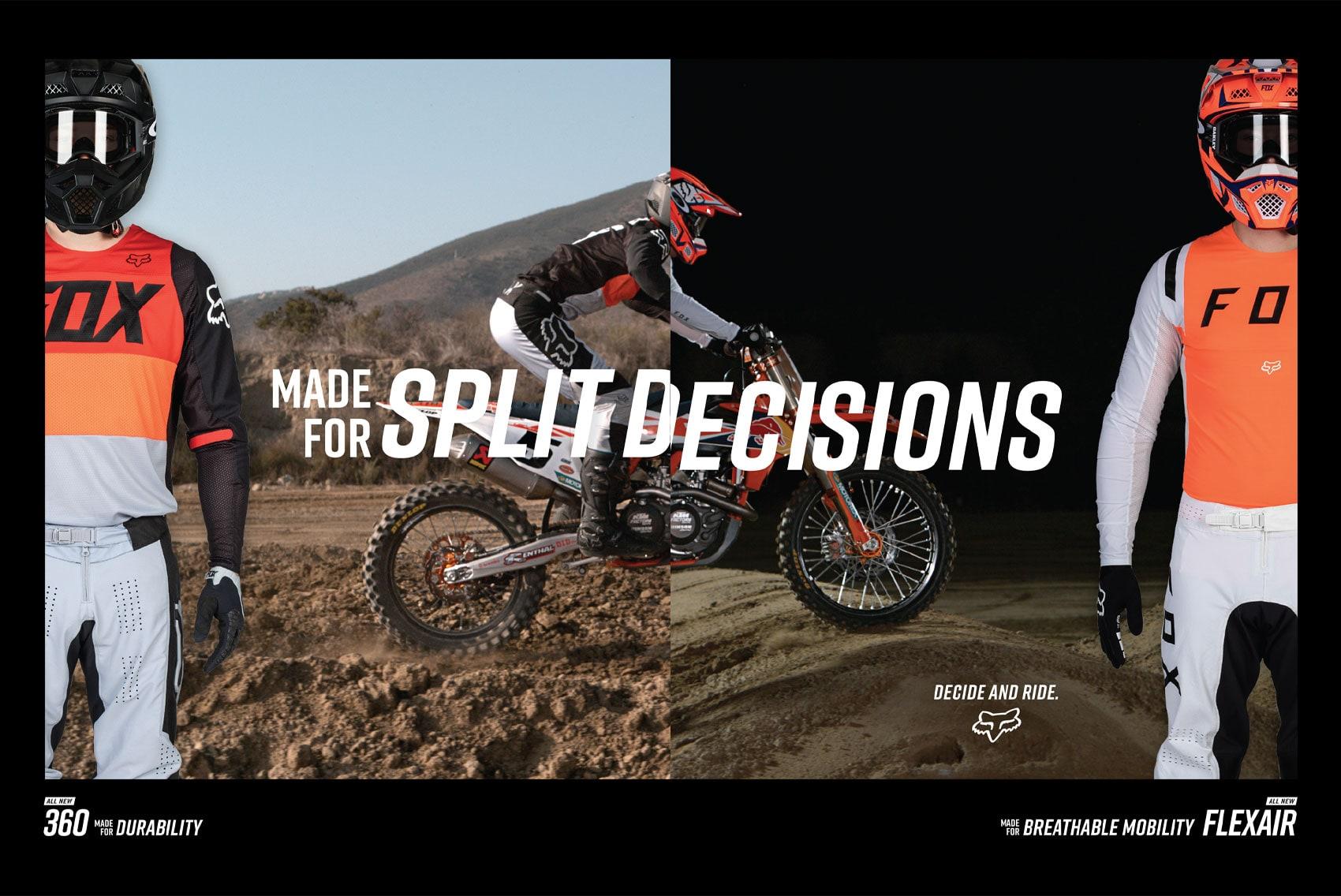 Racer X October - Fox Racing Advertisement