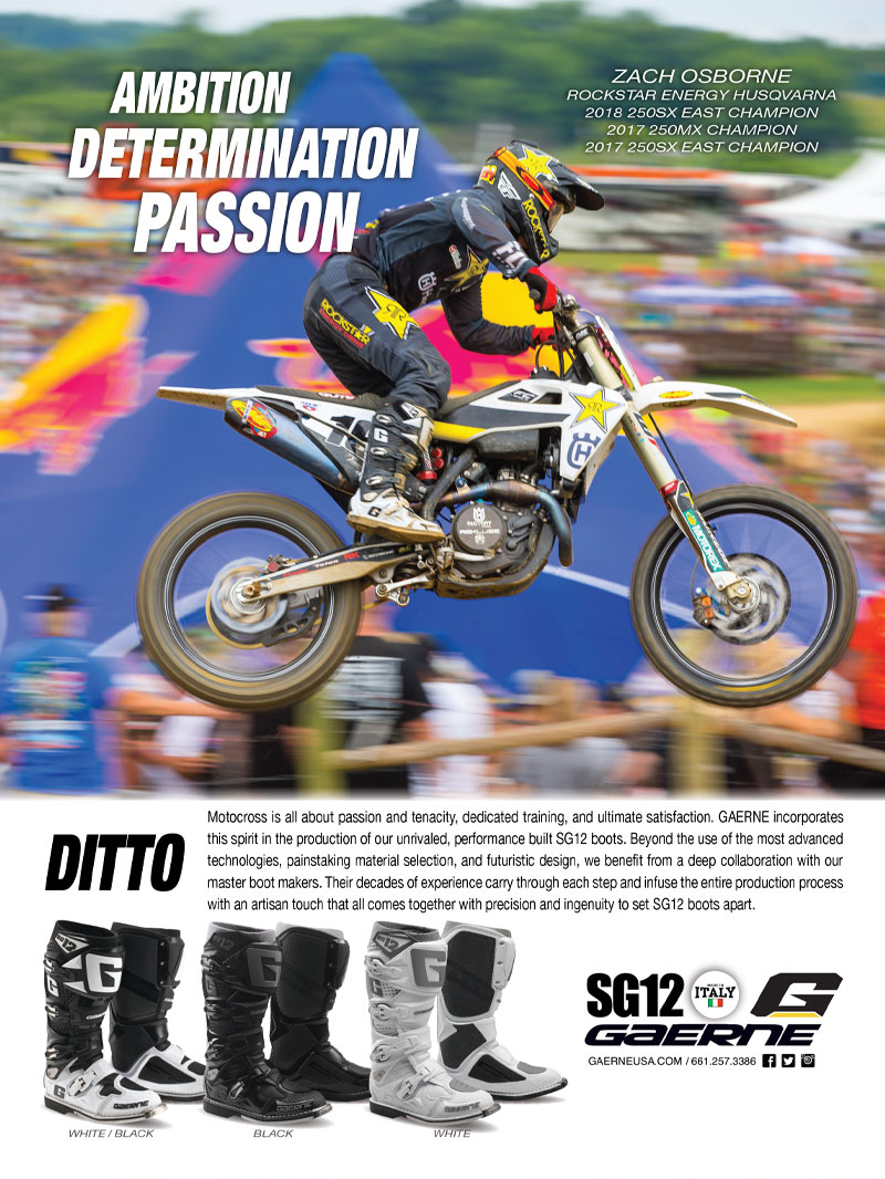 Racer X November 2019 - Gaerne Advertisement