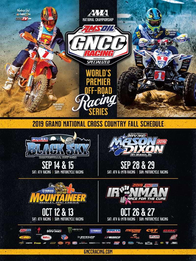 Racer X October 2019 - GNCC Racing Advertisement