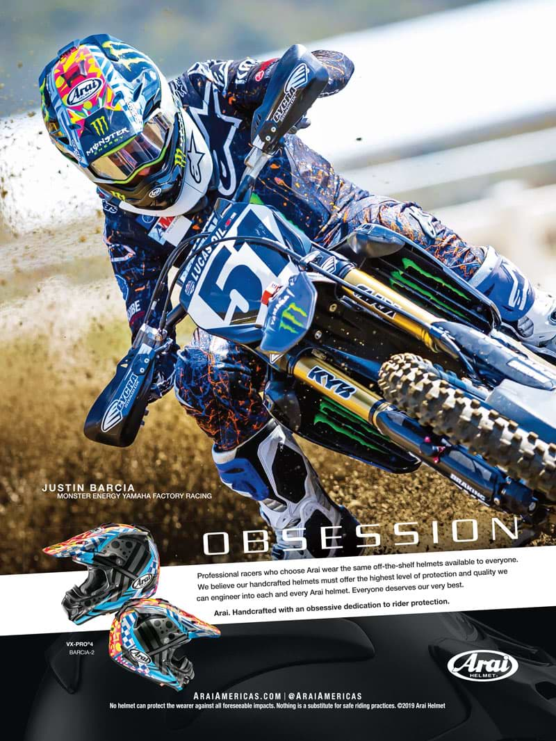 Racer X November 2019 - Arai Helmet Advertisement