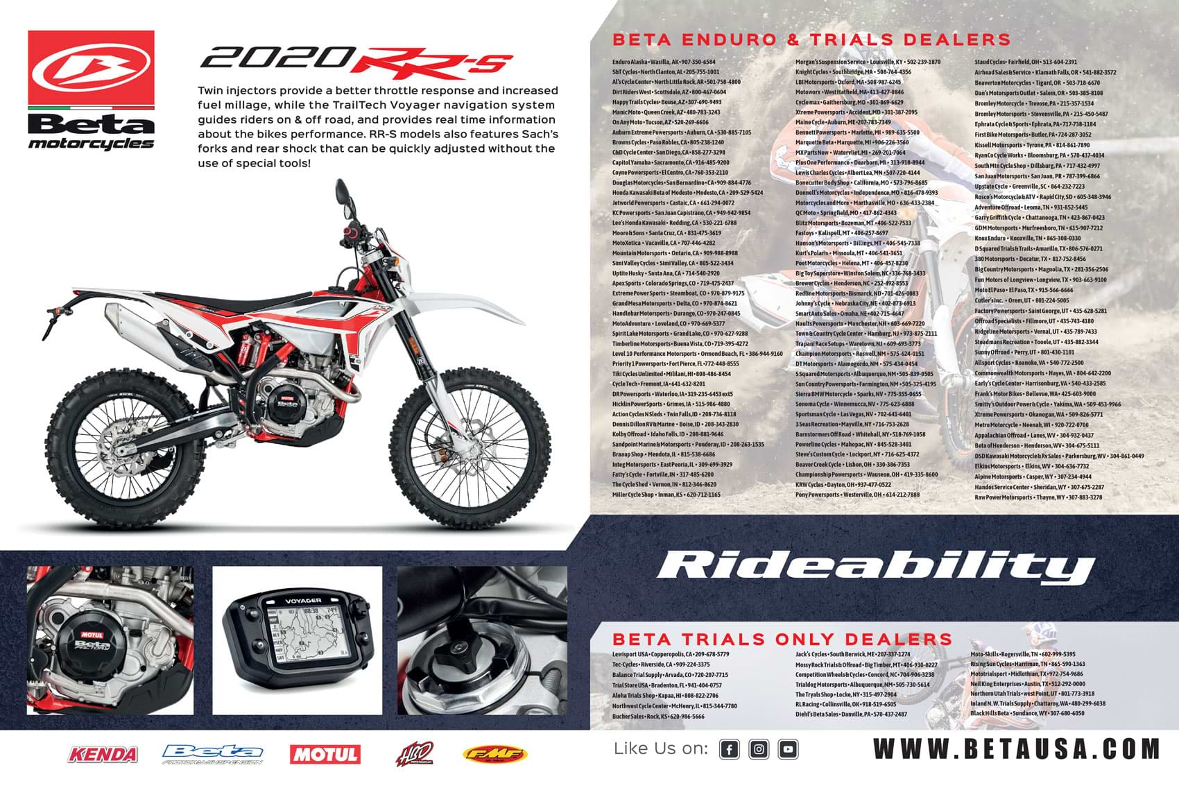 Racer X November 2019 - Beta Advertisement