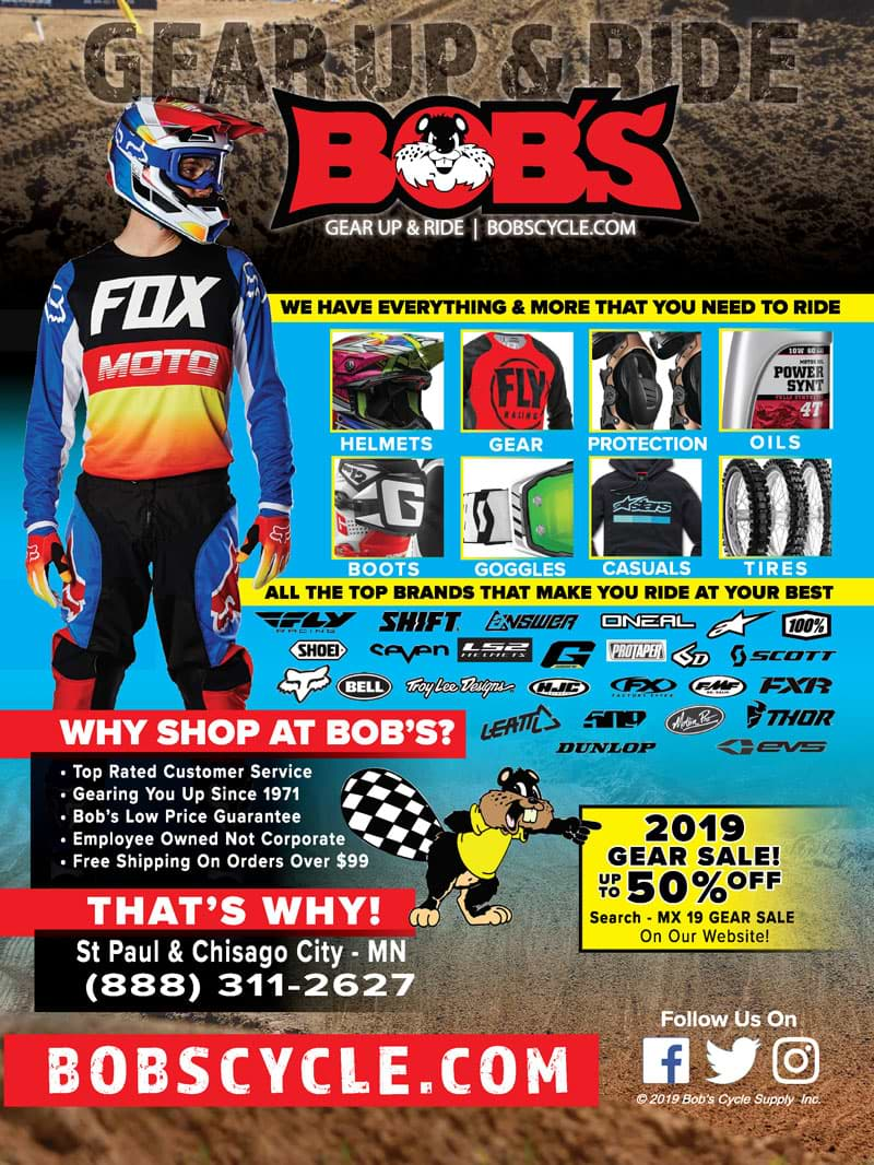 Racer X November 2019 - Bob's Cycle Advertisement